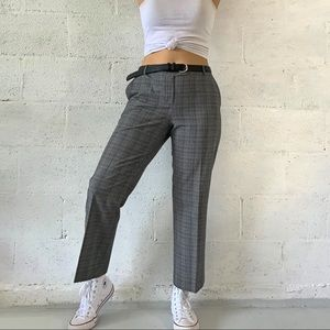Calvin Klein Plaid Straight Leg Ankle Pants SZ 34""